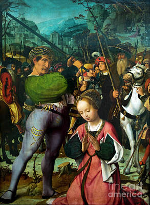 Jan.15th Photograph - Martyrdom Of Saint Catherine, By Jan Provoost, Circa 1503, Groen by Peter Barritt