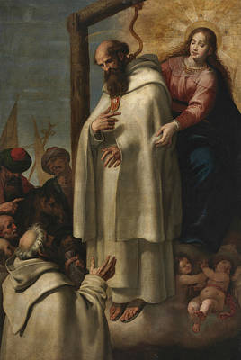 Painting - Martyrdom Of Saint Peter Armengol by Vincenzo Carducci