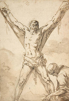 Drawing - Martyrdom Of St. Andrew by Salvator Rosa