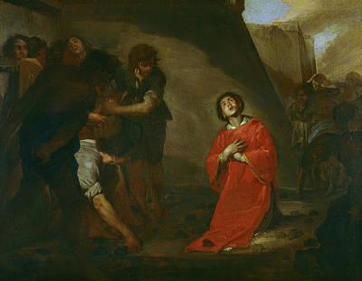 Martyrdom Of St Stephen Print by Bernardo Cavallino