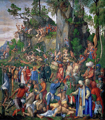 Germany Painting - Martyrdom Of Ten Thousand Christians by Albrecht Durer