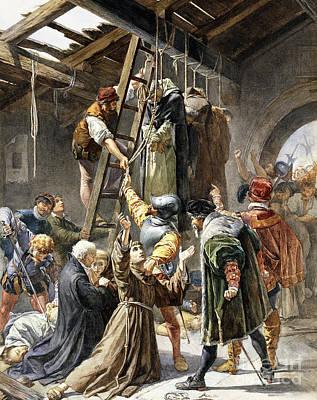 Beams Painting - Martyrs Of Gorkum by Paolino Pavesi