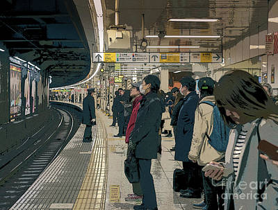 Photograph - Marunouchi Line, Tokyo Metro Japan Poster 2 by Perry Rodriguez