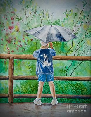 Painting - Marcus' Umbrella by AnnaJo Vahle