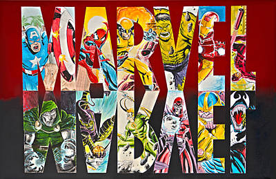 Ironman Drawing - Marvel Hero's And Villain's  by James Holko