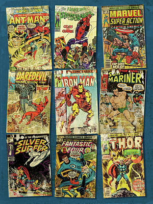 Marvel Super Heroes Print by Russell Pierce