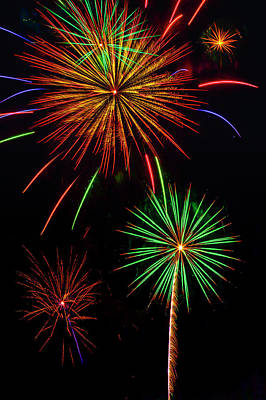 Photograph - Marvelous Fireworks by Garry Gay