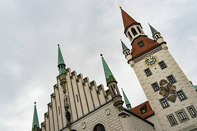 Photograph - Marvelous Munich - Altes Rathaus Old Town Hall Against The Angry Sky by Georgia Mizuleva