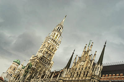 Photograph - Marvelous Munich - Ornate Neues Rathaus And The Famous Glockenspiel by Georgia Mizuleva