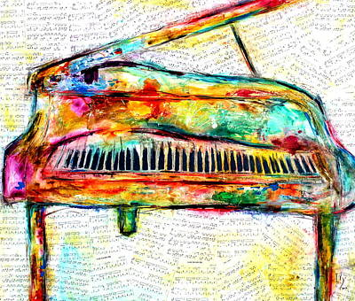 Piano Painting - Marvelous Music by Ivan Guaderrama