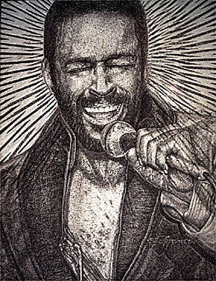 Painting - Marvin Gaye  by Buena Johnson