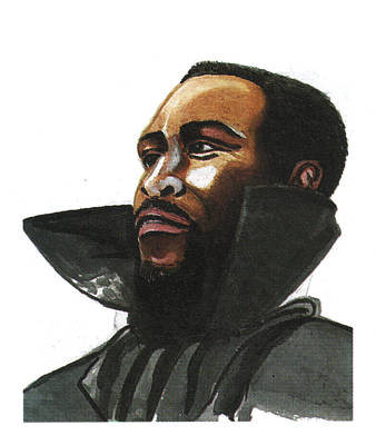Art Of Soul Singer Drawing - Marvin Gaye by Emmanuel Baliyanga