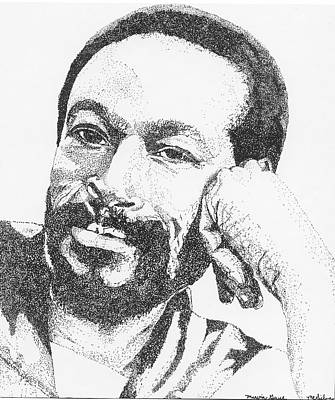 Drawing - Marvin Gaye  by Michelle Gilmore