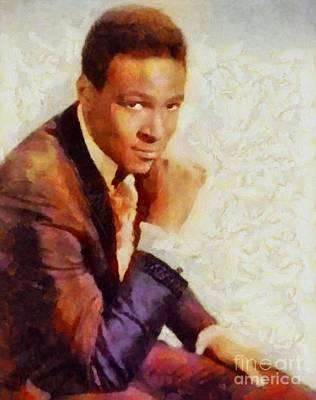 Music Paintings - Marvin Gaye, Music Legend by Esoterica Art Agency