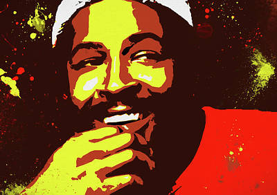 Painting - Marvin Gaye Poster by Dan Sproul