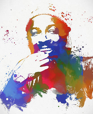 Painting - Marvin Gaye Watercolor by Dan Sproul