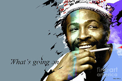 Marvin Gaye  What's Going On Art Print