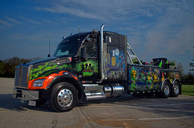 Photograph - Marvins Big Rig Ninja Turtles Tribute Tow Truck by Tim McCullough