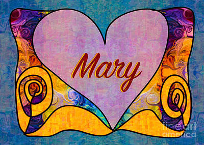 Drawing - Mary Abstract Greeting Card Artwork By Omaste Witkowski by Omaste Witkowski