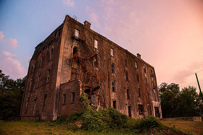 Photograph - Mary Allen Seminary Sunset Southern View by Micah Goff
