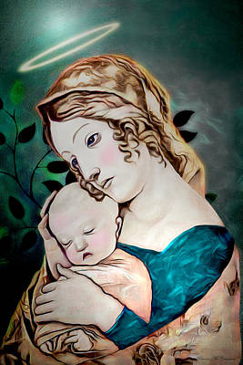Digital Art - Mary And Child by Pennie McCracken