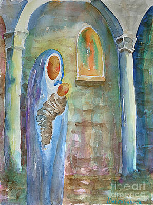 Painting - Mary And The Child by Marisa Gabetta