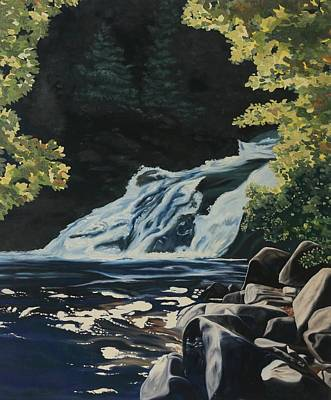 Painting - Mary Ann Falls On The Cabot Trail by Phil Chadwick