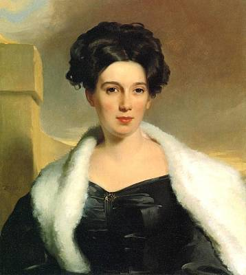 Thomas Sully Painting - Mary Anne Heide Norris by MotionAge Designs