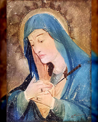 Mary Antique Painting  Art Print by Kandis Glasgow