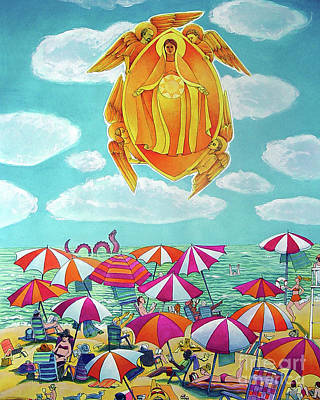 Painting - Mary, Assumption Over Bethany - Mmaob by Br Mickey McGrath OSFS