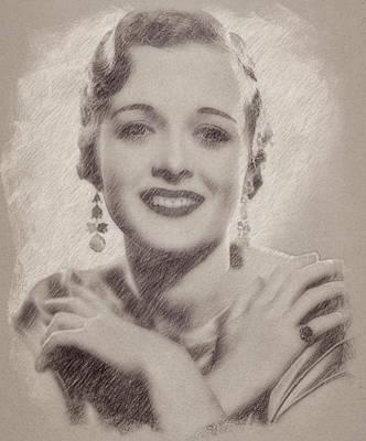 Celebrities Paintings - Mary Astor by Esoterica Art Agency
