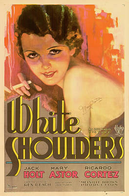 Mary Astor In White Shoulders 1931 Print by Mountain Dreams