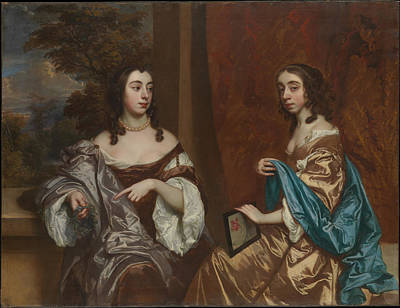 Mary Capel 16301715 Later Duchess Of Beaufort And Her Sister Elizabeth 16331678 Countess Of Carnarvon Original by Sir Peter Lely