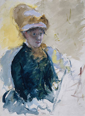 Mary Cassatt Self-portrait Art Print by Mary Cassatt