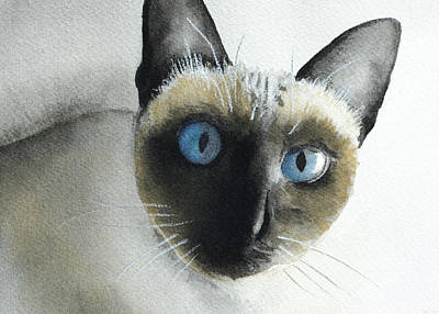 Painting - Mary Cat by Lynn Hansen