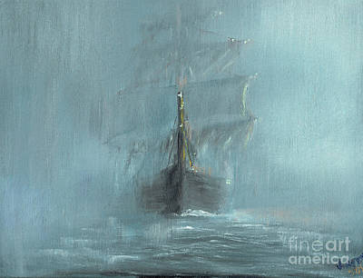 Celeste Painting - Mary Celeste by Vincent Alexander Booth
