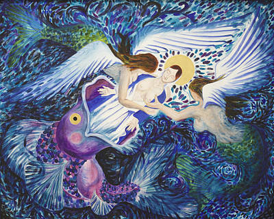 Hail Mary Painting - Mary Comes Home by Sophy White