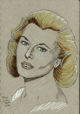 Drawing - Mary Costa by Frank Middleton