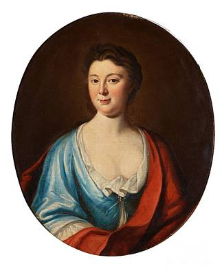Blue And Red Painting - Mary Countess Cowper by MotionAge Designs