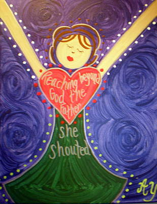 Painting - Mary Daly by Angela Yarber