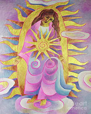 Painting - Mary, Dawn On High - Mmdoh by Br Mickey McGrath OSFS