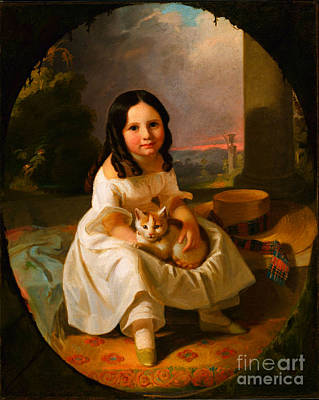 Painting - Mary Elizabeth Francis The Artists Daughter by John F Francis