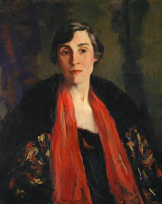 Mary Fanton Roberts Art Print by Robert Henri