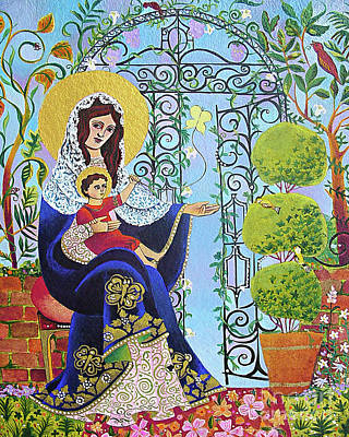 Painting - Mary, Gate Of Heaven - Mmgah by Br Mickey McGrath OSFS