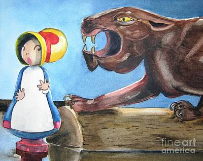 Painting - Mary Had A Little Panther by Jane Loveall