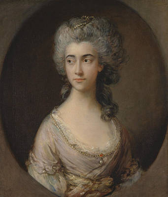 18th Century Painting - Mary Heberden by Thomas Gainsborough