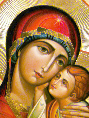 Orthodox Icon Photograph - Mary Icon by Munir Alawi