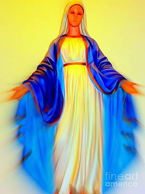 Digital Art - Mary In Motion by Ed Weidman