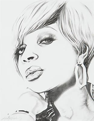 Mary J. Blige Art Print
