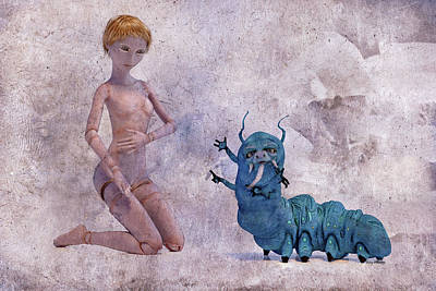 Mary Jane And The Blue Hooka Pooka Betsy Knapp Art Print